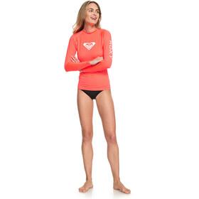 Roxy Whole Hearted Langærmet T-shirt Damer, fiery coral